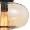 "Picture of 11"" 1 Light Down Mini Pendant with Transparent Amber finish"