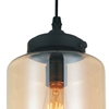 "Picture of 11"" 1 Light Down Mini Pendant with Transparent Cognac finish"