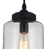 "Picture of 11"" 1 Light Down Mini Pendant with Transparent finish"