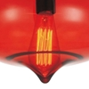 "Picture of 11"" 1 Light Down Mini Pendant with Transparent Red finish"