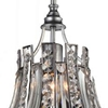 "Picture of 11"" 1 Light Drum Shade Chandelier with Antique Forged Silver finish"