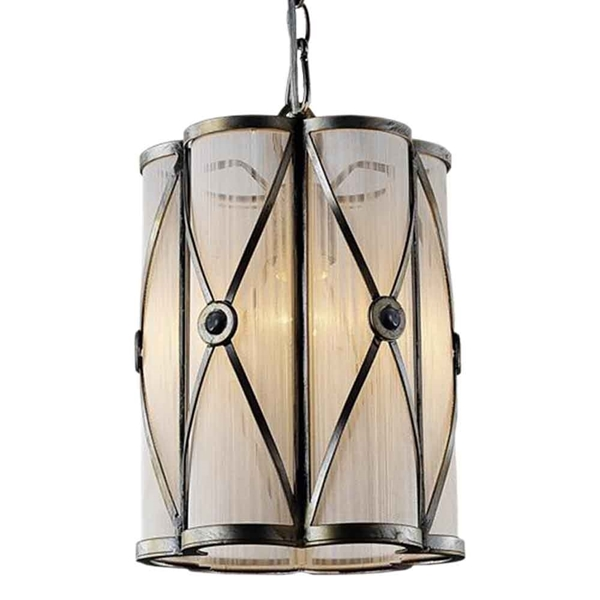 """Picture of 11"""" 1 Light Drum Shade Mini Pendant with Black finish"""