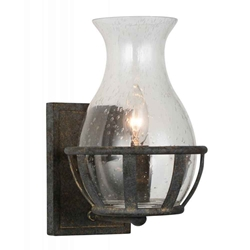 "11"" 1 Light Wall Sconce with Antique Black finish"