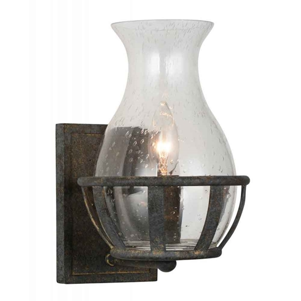 "Picture of 11"" 1 Light Wall Sconce with Antique Black finish"