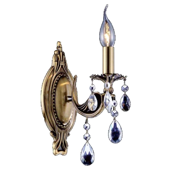 "Picture of 11"" 1 Light Wall Sconce with Antique Brass finish"