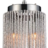 "Picture of 11"" 2 Light Drum Shade Mini Pendant with Chrome finish"