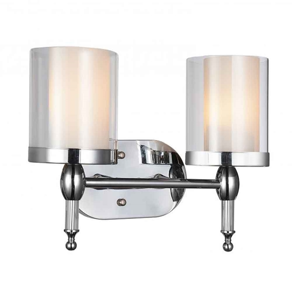 "Picture of 11"" 2 Light Vanity Light with Chrome finish"