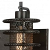 """Picture of 11"""" 2 Light Wall Sconce with Brown finish"""