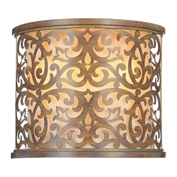 """11"""" 2 Light Wall Sconce with Brushed Chocolate finish"""