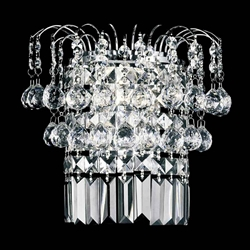"11"" 2 Light Wall Sconce with Chrome finish"