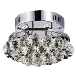 "11"" 3 Light  Flush Mount with Chrome finish"