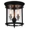 "Picture of 11"" 3 Light Cage Flush Mount with Oil Rubbed Bronze finish"