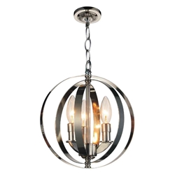 """11"""" 3 Light Up Mini Pendant with Antique Brass finish"""