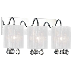 "11"" 3 Light Vanity Light with Chrome finish"
