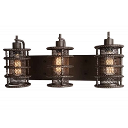 "11"" 3 Light Wall Sconce with Brown finish"