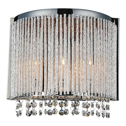 "11"" 3 Light Wall Sconce with Chrome finish"