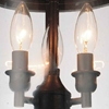 """Picture of 11"""" Lantern Contemporary Rubbed Oil Bronze Flush Mount 3  Lights"""