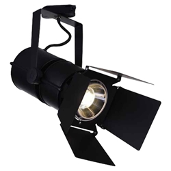"11"" LED Outdoor Semi-Flush Mount with Black & Wood finish"