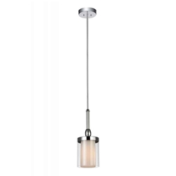 """12"""" 1 Light Candle Mini Chandelier with Chrome finish"""