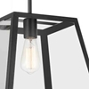 "Picture of 12"" 1 Light Down Mini Pendant with Black finish"