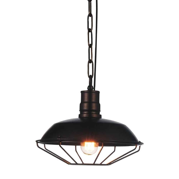 "Picture of 12"" 1 Light Down Mini Pendant with Chocolate finish"