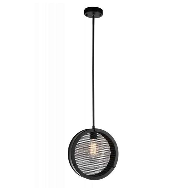 "Picture of 12"" 1 Light Up Pendant with Black finish"
