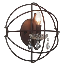 """12"""" 1 Light Wall Sconce with Brown finish"""