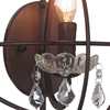 "Picture of 12"" 1 Light Wall Sconce with Brown finish"