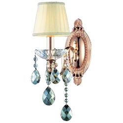 """12"""" 1 Light Wall Sconce with Rose Gold finish"""