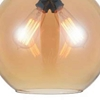 "Picture of 12"" 2 Light Down Mini Pendant with Transparent Amber finish"