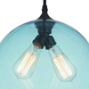 "Picture of 12"" 2 Light Down Mini Pendant with Transparent Blue finish"