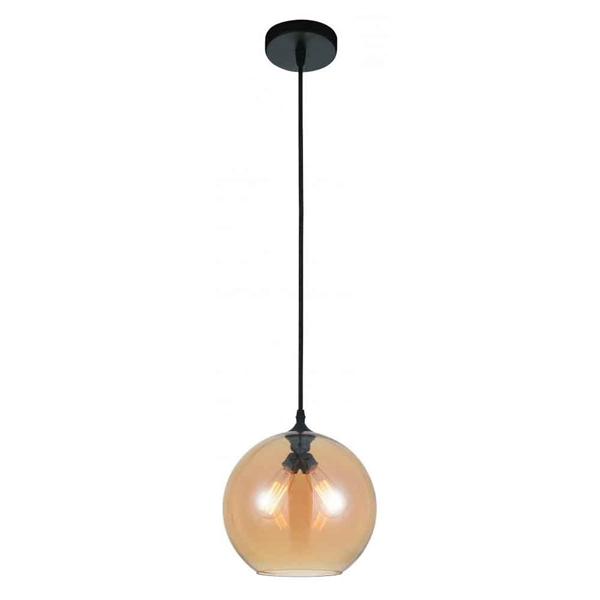 "Picture of 12"" 2 Light Down Mini Pendant with Transparent Cognac finish"
