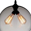 "Picture of 12"" 2 Light Down Mini Pendant with Transparent Smoke finish"