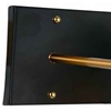 "Picture of 12"" 2 Light Wall Sconce with Black & Gold Brass finish"