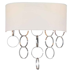 """12"""" 2 Light Wall Sconce with Chrome finish"""