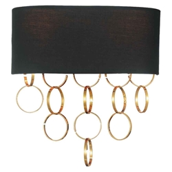 """12"""" 2 Light Wall Sconce with Gold finish"""