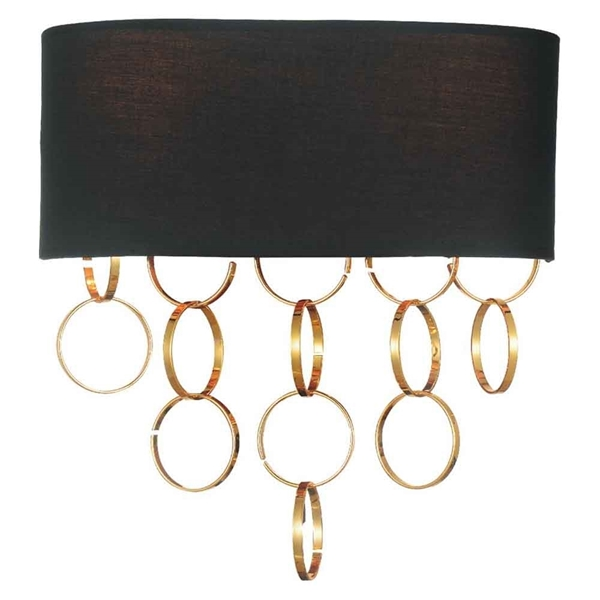 "Picture of 12"" 2 Light Wall Sconce with Gold finish"