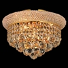 """Picture of 12"""" 3 Light  Flush Mount with Gold finish"""