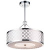 "Picture of 12"" 3 Light Drum Shade Mini Pendant with Chrome finish"
