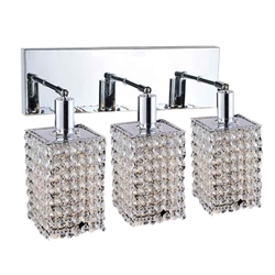"12"" 3 Light Vanity Light with Chrome finish"
