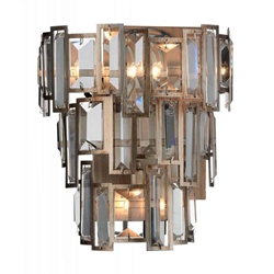 "12"" 3 Light Wall Sconce with Champagne finish"