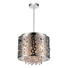"Picture of 12"" 4 Light Drum Shade Mini Pendant with Chrome finish"