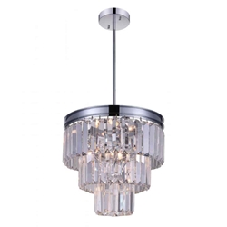"""12"""" 8 Light Down Mini Chandelier with Chrome finish"""