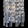 """Picture of 12"""" Bossolo Transitional Crystal Rectangular Square Wall Sconce Polished Chrome 2 Lights"""