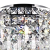 "Picture of 12"" Bossolo Transitional Crystal Round Flush Mount Chandelier Polished Chrome 4-Lights"