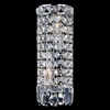 "Picture of 12"" Bossolo Transitional Crystal Round Wall Sconce Polished Chrome 2 Lights"