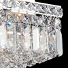 "Picture of 12"" Bossolo Transitional Crystal Square Flush Mount Chandelier Polished Chrome 4 Lights"