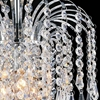"Picture of 12"" Fountain Crystal Semi-Flush Mount Small Round Chandelier Chrome / Gold 3 Lights"