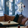 """Picture of 12"""" Led Cage Modern Crystal Round Mini Pendant Polished Chrome 3 Lights"""
