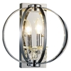 "Picture of 12"" Led Cage Modern Crystal Round Wall Sconce Polished Chrome 1 Light"